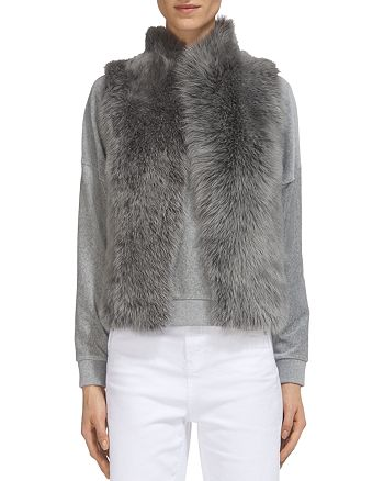 Whistles - Cropped Real Lamb Shearling Gilet