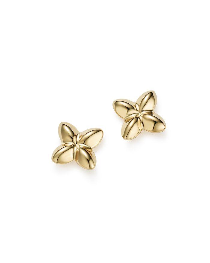 Bloomingdale's - 14K Yellow Gold Puffed X Stud Earrings - 100% Exclusive