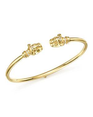 Temple St. Clair 18K Yellow Gold Lion Cub Bellina Diamond Bracelet