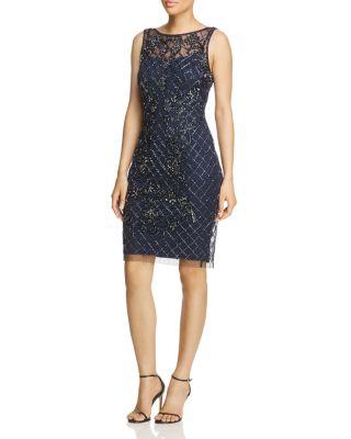 $Adrianna Papell Beaded Sheath Dress - Bloomingdale's