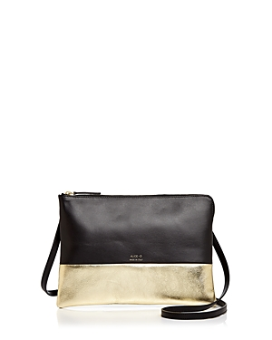 Alice.d Metallic Color Block Leather Crossbody