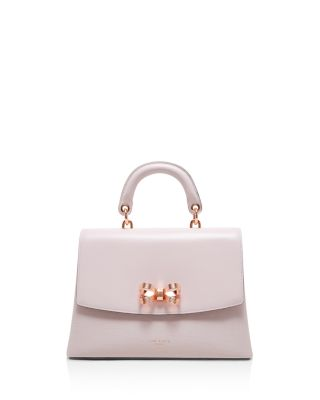 1d7b0aab5 TED BAKER Lauree Looped Bow Leather Satchel - Pink