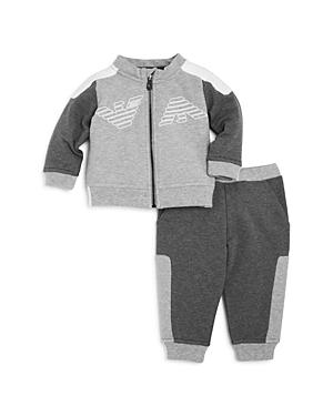 Armani Junior Boys ZipUp Sweater  Joggers Set  Baby