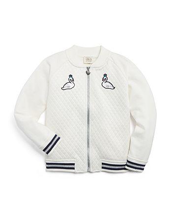 Armani - Girls' Swan Bomber Jacket - Little Kid, Big Kid