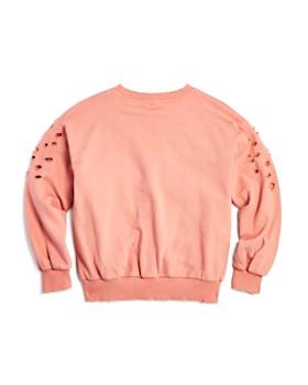 AQUA - Girls' Distressed Sweatshirt, Big Kid - 100% Exclusive