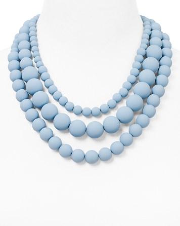 $AQUA Bold Beaded Necklace, 17