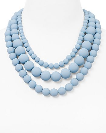 "AQUA - Bold Beaded Necklace, 17"" - 100% Exclusive"