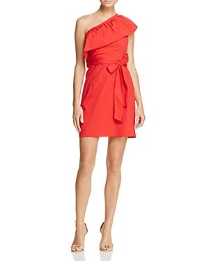 Milly Tara One-Shoulder Ruffle Dress