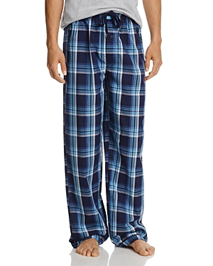 Psycho Bunny Peacoat Carolina Large-Plaid Pajama Pants