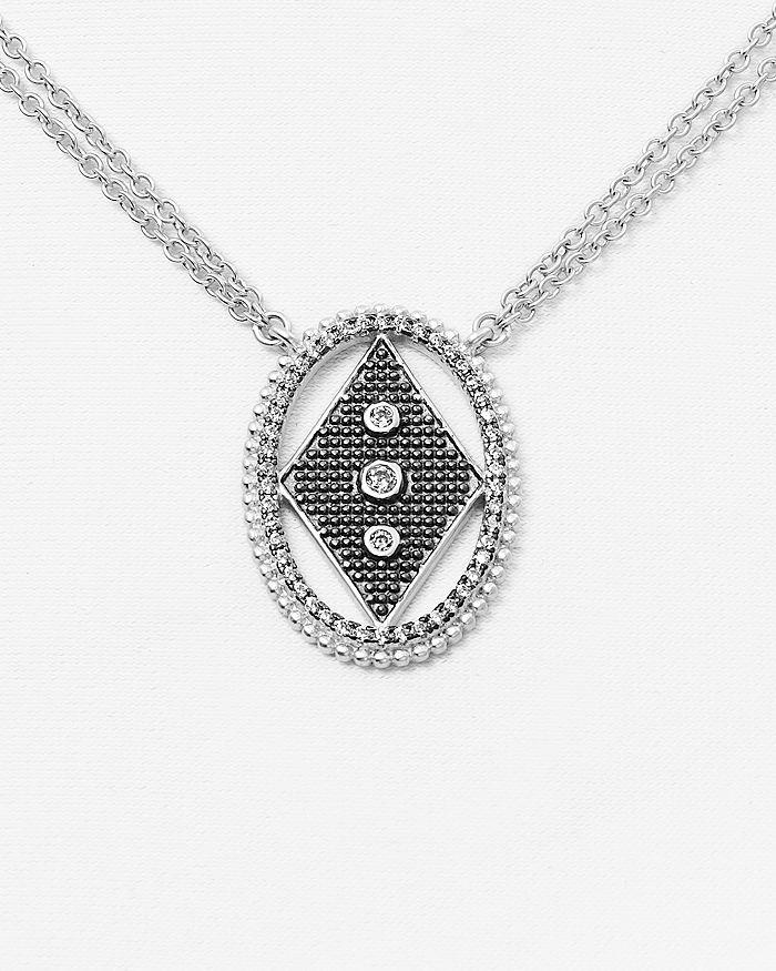 "Freida Rothman - Circular Diamond Pendant Necklace, 15"""