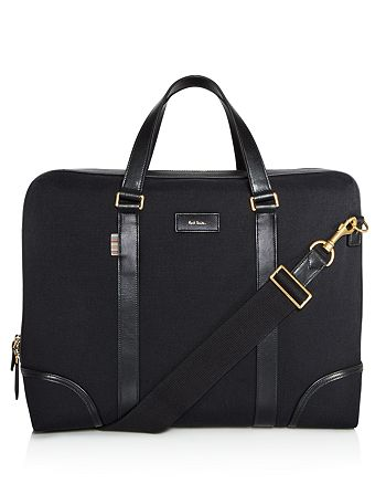 Paul Smith - Canvas and Leather Detail Briefcase