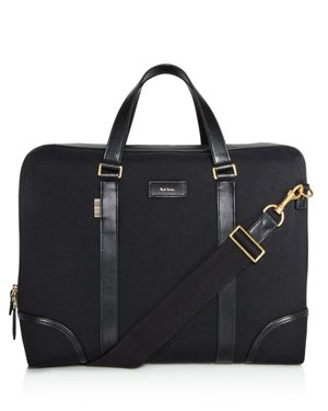 Paul Smith Canvas and Leather Detail Briefcase 2638990