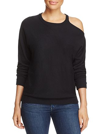 Minnie Rose - Cold-Shoulder Sweater