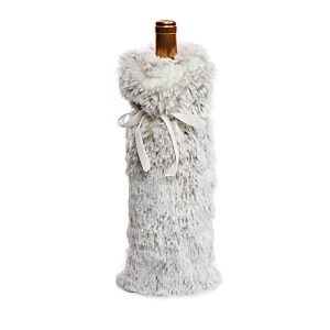 Hudson Park Faux Fur Wine Bag - 100% Exclusive