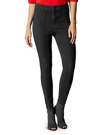 KAREN MILLEN - High-Waisted Skinny Jeans
