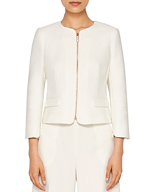 Click here for Ted Baker Ila Scallop-Detail Zip Jacket prices