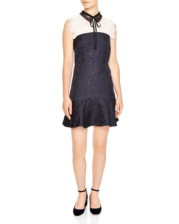 $Sandro Flavia Brocade Mini Dress - Bloomingdale's