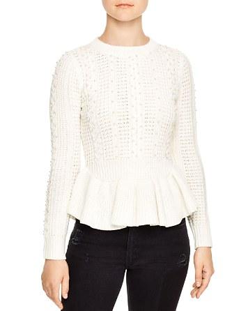 $Sandro Rickie Beaded Sweater - Bloomingdale's