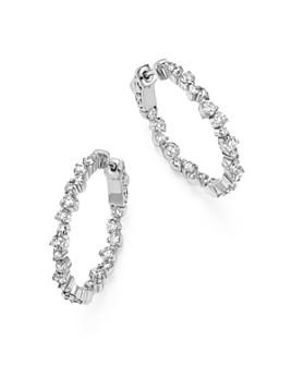 Bloomingdale's - Diamond Inside Out Hoop Earrings in 14K White Gold, 1.75 ct. t.w. - 100% Exclusive