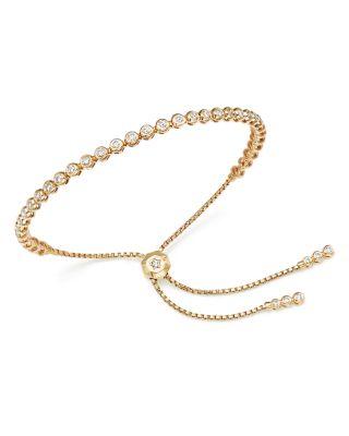 Diamond Bezel Tennis Bolo Bracelet in 14K Rose Gold, 1.20 ct. t.w. - 100% Exclusive