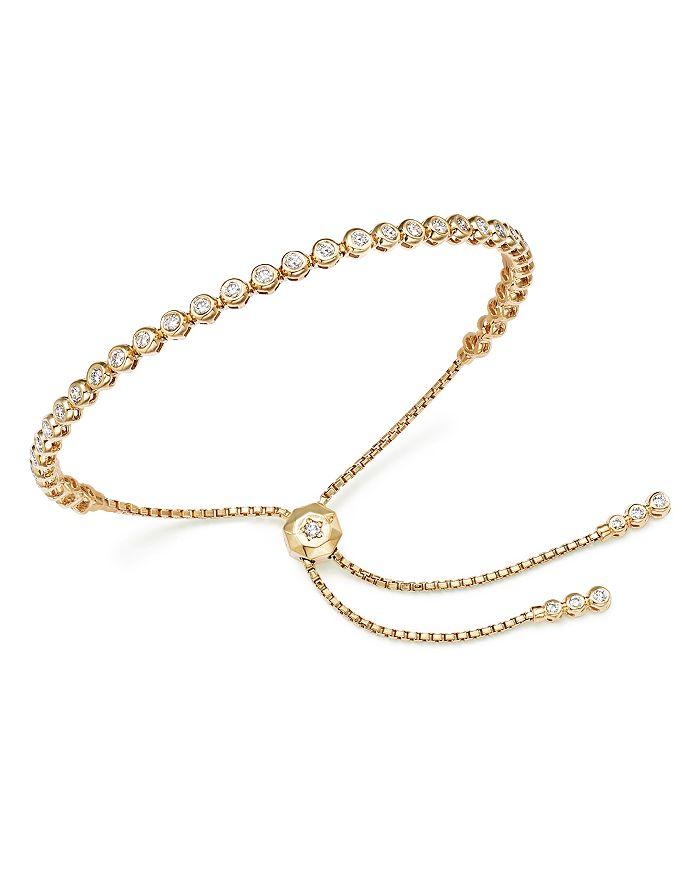 Bloomingdale's - Diamond Bezel Tennis Bolo Bracelet in 14K Gold, 1.20 ct. t.w. - 100% Exclusive