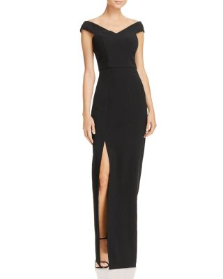 BARIANO Cap-Sleeve Gown - 100% Exclusive in Black