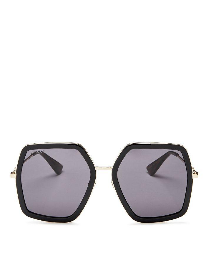 34a810917 Gucci Women's Oversized Square Sunglasses, 56mm | Bloomingdale's