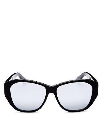 Saint Laurent - Women's Mirrored Square Sunglasses, 55mm