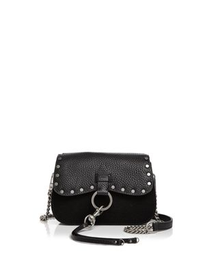 Rebecca Minkoff Keith Small Leather and Nubuck Saddle Bag 2653448