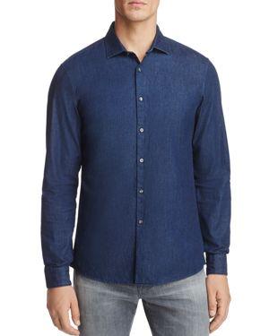 Michael Kors Denim Long Sleeve Slim Fit Button-Down Shirt - 100% Exclusive