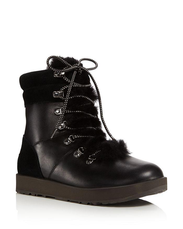 UGG® - Vicki Waterproof Leather & Sheepskin Boots