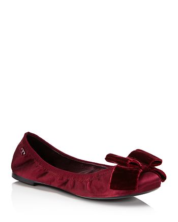 78cfe386d Tory Burch Viola Bow Ballet Flats | Bloomingdale's