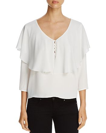 Finn & Grace - Ruffle Overlay Top - 100% Exclusive
