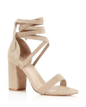 Raye Laurel Suede Ankle Wrap High Heel Sandals