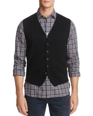 THE MEN'S STORE AT BLOOMINGDALE'S The Men'S Store At Bloomingdale'S Merino Wool Vest - 100% Exclusive in Black