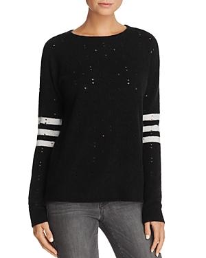 Aqua Distressed Striped Sweater - 100% Exclusive