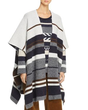 Weekend Max Mara Medusa Striped Poncho - 100% Exclusive