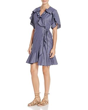 Cosette Jianna Ruffle Stripe Wrap Dress