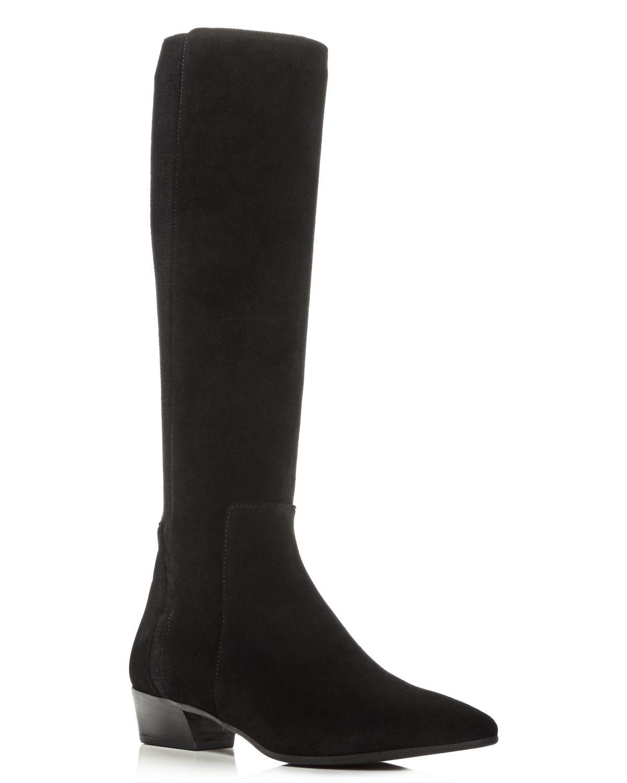 Aquatalia Women's Federica Weatherproof Suede Tall Boots