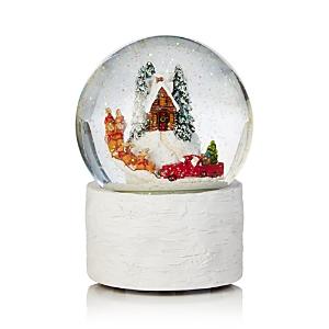 Bloomingdale's Santa & Reindeer Musical Snowglobe - 100% Exclusive