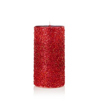 Bloomingdale's - Gold Beaded Pillar Candle - 100% Exclusive