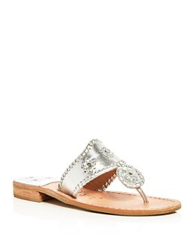 ecb569babc5 Jack Rogers - Women s Hamptons Metallic Thong Sandals ...