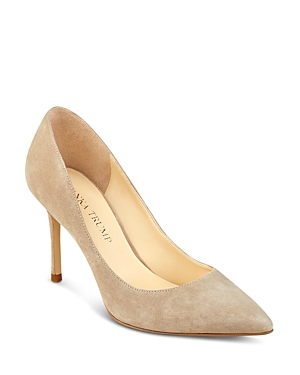 Ivanka Trump Una Suede Pointed Toe High Heel Pumps