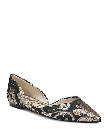 4fa17c142397ff Sam Edelman - Women s Rodney Tapestry d Orsay Pointed Toe Flats. This ...