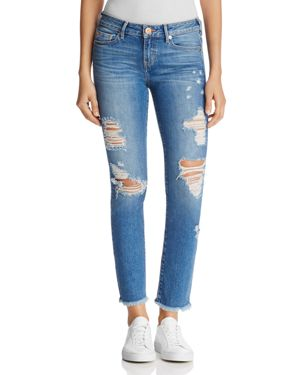 True Religion Sara Cigarette Crop Jeans in Everlasting Blue