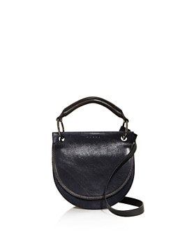 Marni - Color Block Leather and Suede Saddle Bag