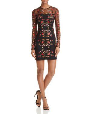 Yigal x Aqua Embroidered Mesh Dress - 100% Exclusive
