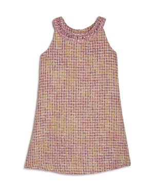 Us Angels Girls' Jewel-Collared Sleeveless Dress - Little Kid 2676991