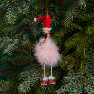 Kurt Adler Flamingo with Dangle Legs Ornament