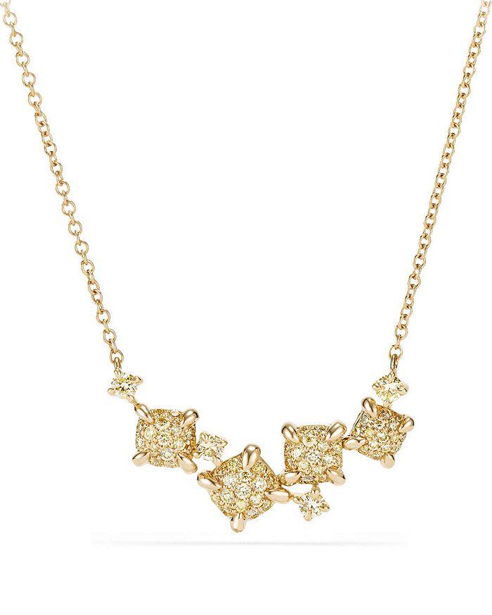 David Yurman - Precious Châtelaine Necklace with Yellow Diamonds in 18K Gold
